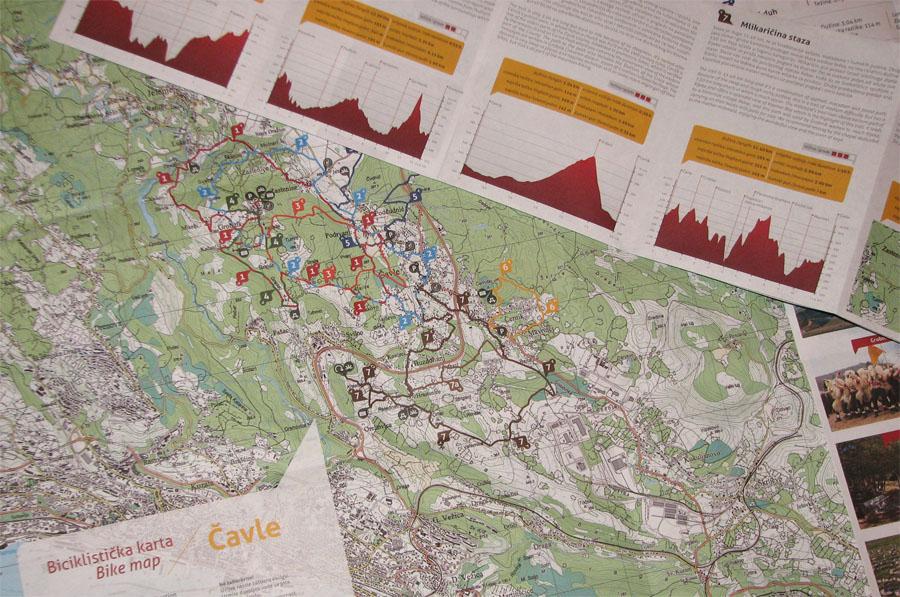 Biciklistička karta Čavle
